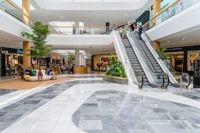 a shopping mall, empty