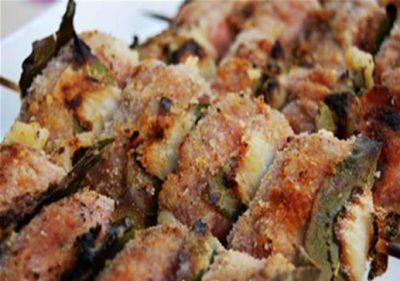 involtini alla Palermitana, with veal, pollo or swordfish