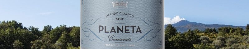 Planeta wine with mount Etna on the background
