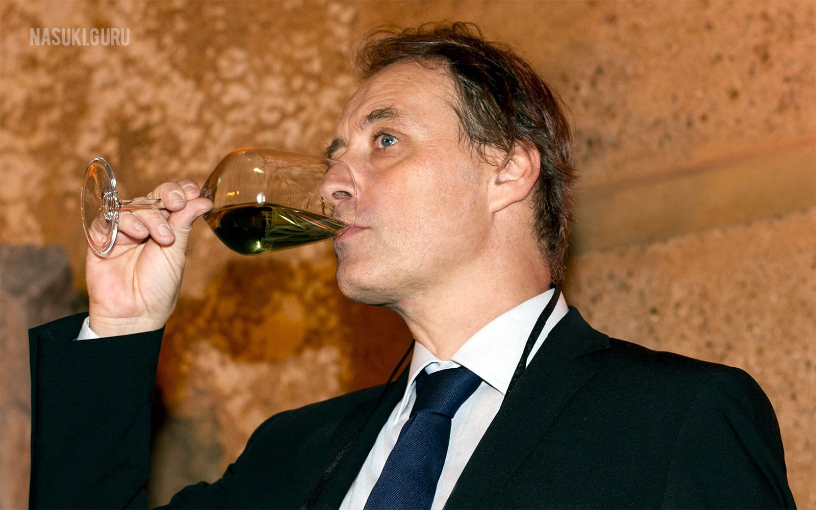 Savouring a glass of white wine
