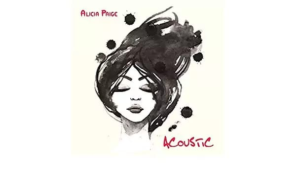 Alicia Paige, acoustic, Chinese ink drawing