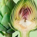 Awesome artichoke cut in half