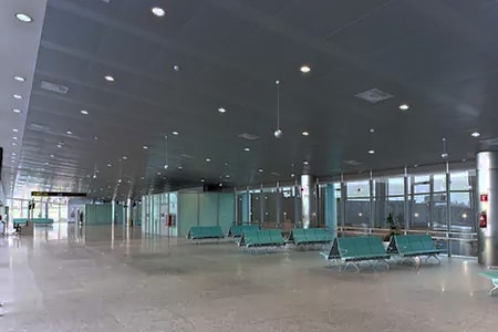 empty airports in Italy for a long long time