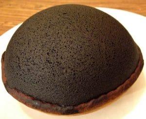 A burnt cake