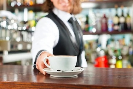 breakfast at the local bar with a cappuccino is part of the Italian routine