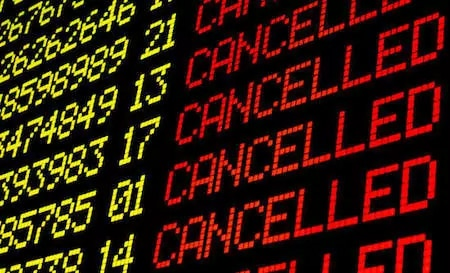 An update on tourism, many flights are being cancelled
