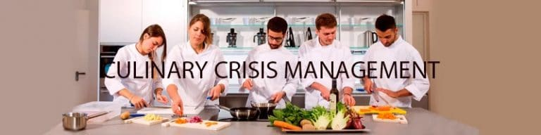 Culinary crisis management