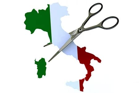Italy cut through the cuore