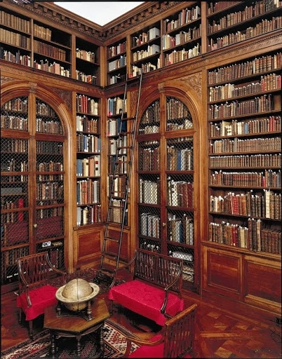 a beautiful library to study history and Christ