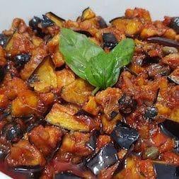 an excellent Sicilian vegetarian starter: caponata