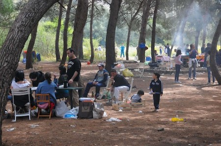 barbecue in the Favorita Park, Palermo