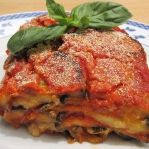 vegetarian and original parmigiana, with a deep purple contrast