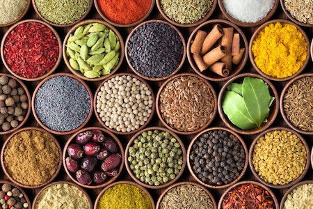photograph with various spices