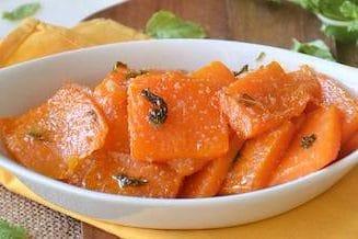 vegetarian top- sweet sour pumpkin