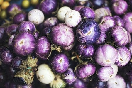 beautiful violet vegetables