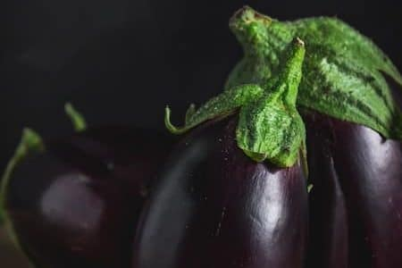 violet or purple eggplants
