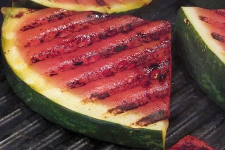 watermelon on the barbecue