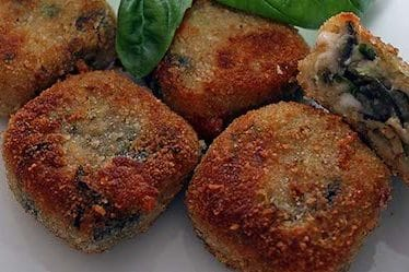deep fried eggplant balls