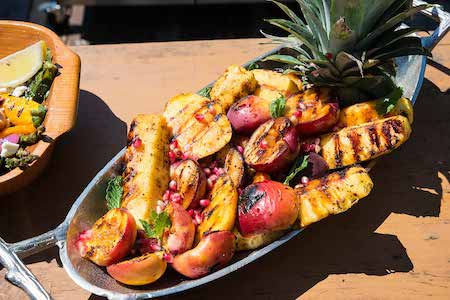 barbecued fruit, fun, with fruit