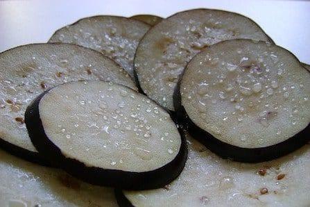 salted aubergines