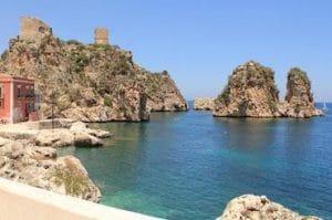Ocean's twelve was shot in Scopello, Castellammare Sicily