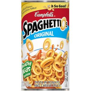 a can of spaghettios, the American cousin of pasta al forno