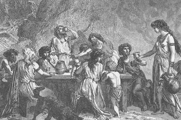 People drinking alcohol way back in time