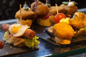 Spanish aperitif, pintxos and tapas