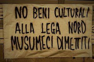 banner written against lega nord in Sicily