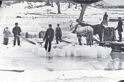 people cutting ice, ready to trade