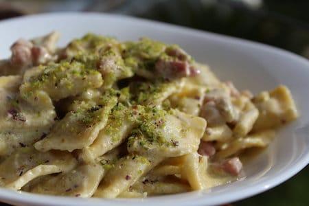 pasta with pistacchio
