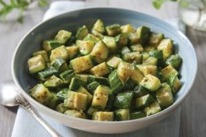zucchini and mint, fresh and light lunch