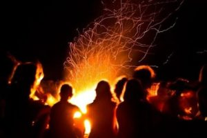 bonfire for ferragosto