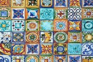 typical majolica tiles, excellent souvenirs
