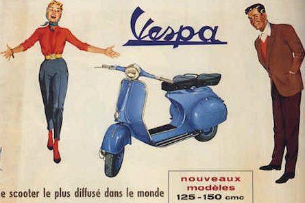 old piaggio vespa publicity