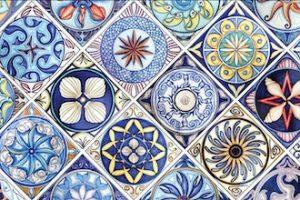beautiful cobalt ceramic from Santo Stefano di Camastra