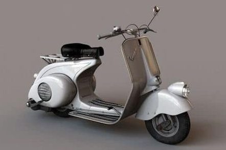 the first ever Vespa motor cycle, in 1946