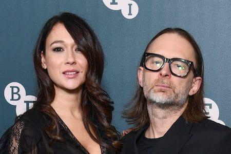 Radiohead singer Thom Yorke and actress Dajana Roncione