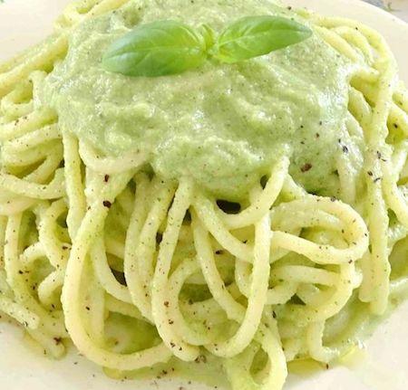 zucchini cream pasta