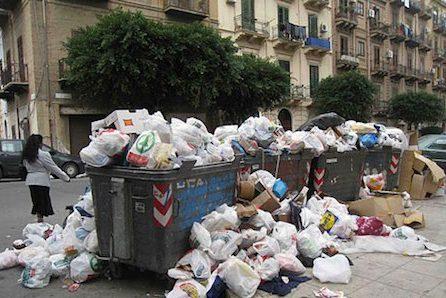 city of palermo, garbage