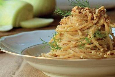 hazelnuts pesto with spaghetti happy happy happy