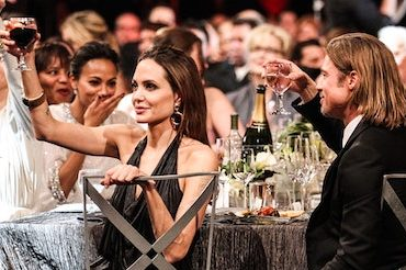 Hollywood royalty, Jolie and Pitt raising their glass