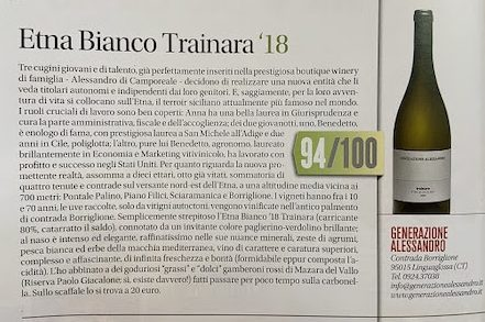 tre bicchieri for this wonderful white etna wine