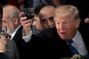 Trump wine, red flag
