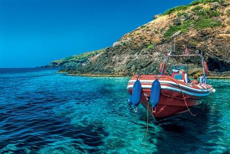 Ustica, a small island near the Sicilian north coast