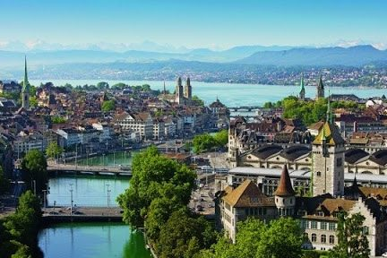 the city of Zurich, the eternal postcard