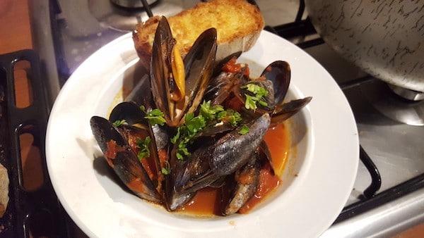 mussel soup, zuppa di cozze