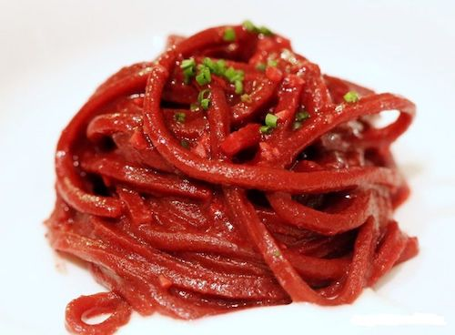 beetroot pasta, an earthly delight