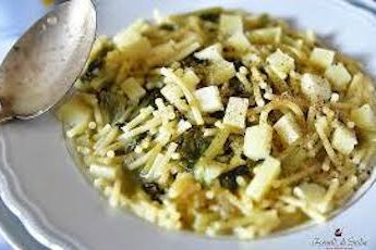 pasta with lettuce and caciocavallo