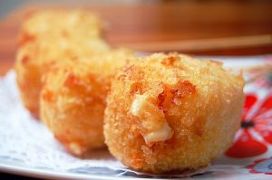 battered and fried cheese